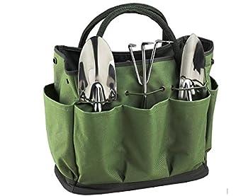 Gardening Tote Bag Garden Tool Bag Garden Tote Home Organizer Gardening Tool Kit Holder Oxford Bag Gardening Tools Organizer Tote Lawn Yard Bag with 8 Pockets