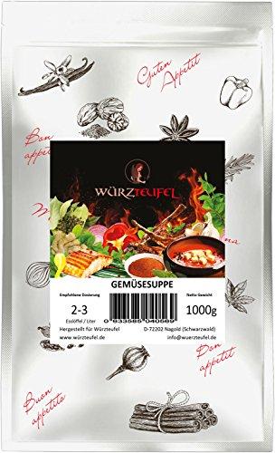 Gemüsesuppe, Feine Gemüsebrühe, Vegane Instant - Suppe, Frei von Zusatzstoffen. Beutel 1000g. (1KG)