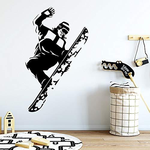 yaonuli Skateboard Wandaufkleber abnehmbare Tapete für Kinderzimmer Dekoration abnehmbare dekorative Wandtattoo 30X50cm