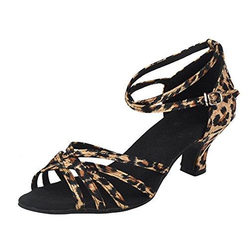 XFentech Moda Satén Peep Toe Baile de Salón Zapatos de Baile Mujer...