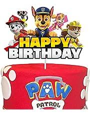 Paw Patrol Happy Birthday Cake Topper Baby Shower Cartoon Theme Party Cake Decoration