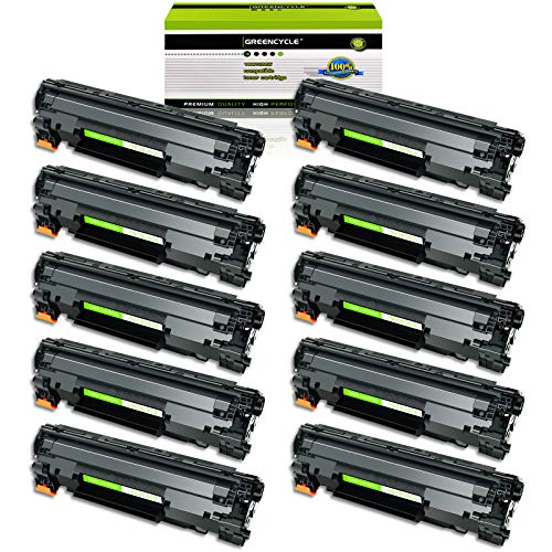 GREENCYCLE Toner Cartridge Replacement Compatible for Canon 126 CRG-126 CRG126 3483B001 use in ImageClass LBP6200d, and LBP6230dw Wireless Laser Printers (Black,10 PK)