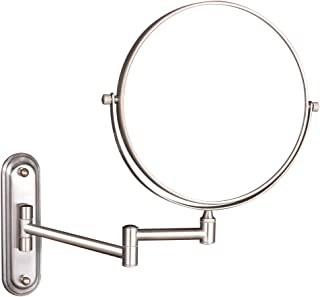 GURUN Wall Mount Magnifying Mirror Brushed Nickel Finish with 10x Magnification,8-Inch Two-Sided Swivel M1206N(8in,10x)