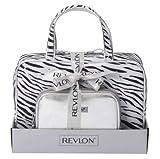 Revlon - Set di 2 trousse, fantasia zebrata