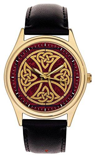Fantastic Knight Templar Celtic Cross Medieval Art Collectible Solid Brass Wrist Watch