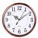 Bekith 12 inch Retro Clock Non Ticking Silent Quality Quartz Decorative Home/Office/School Wall Clock