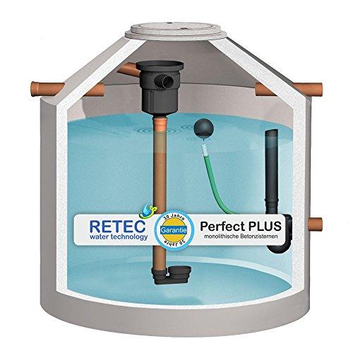 Zisterne 2900 Liter RETEC Retentionszisterne, inkl. Filter und geprüfter Ablaufdrossel 1' - Beton, Betonzisterne, Komplettset