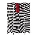 Relaxdays Biombo Separador de Ambientes, Cordón de Papel, Negro, 180 x 44 x 2 cm