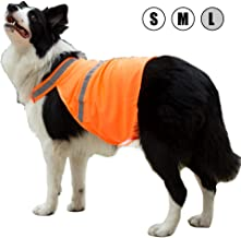 Kalining 2 Pack Reflective Dog Bandana Large/Medium/Small with Personalized Neon Color,Safety Reflective Bib for Dogs Orange Dog Scarf High Visibility Pet Walking at Night