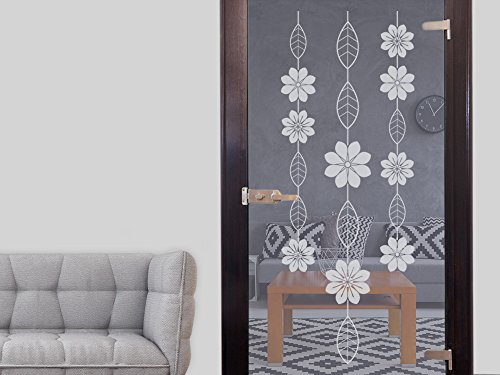 GRAZDesign 980295 raamtattoo bloem met bladeren | glasdecoratie raamschilderij | raamfolie in 4 maten 106x40cm