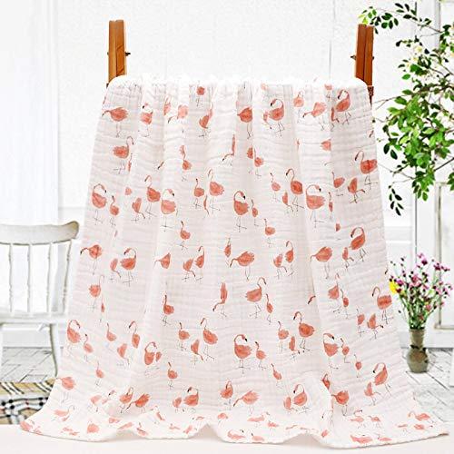 N\C Toallas de baño de gasa de seis capas, gasa de algodón puro Seersucker, mantas para recién nacidos