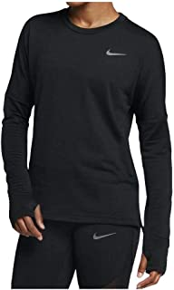 Nike Women's Therma Sphere Element Long Sleeve Running Top Black Metallic Dark Grey AQ9812-010
