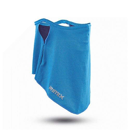 フェイスカバー 冷感 ネックカバー フェイスガード UVカット UPF50+ 日焼け防止 息苦しくない 夏 吸汗速乾 耳かけヒモ付き バイク 男女兼用 グレー