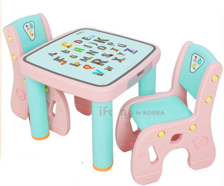 Czp Set da scrivania per Bambini, Set di apprendimento da Tavolo e Sedia per Bambini Multidivertimentozione per Bambini Learning, Adatto a Girl Boys