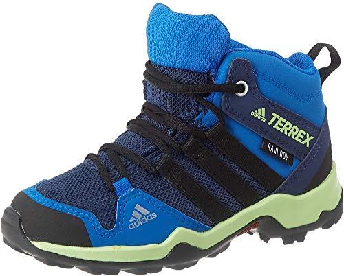 adidas Terrex Ax2r Mid CP K, Zapatillas para Carreras de montaña, Collegiate Navy/Core Black/Glory Blue, 36 EU