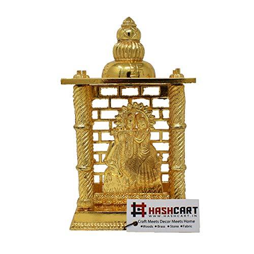 Hashcart Radha Krishna Mandir, vermessingt, speziell für Diwali Puja & Geschenkzwecke