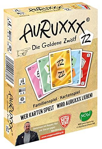 AURUXXX - Die Goldene 12 - Das spannende Kartenspiel für witzige Spieleabende für Jung und Alt. Eine unterhaltsame und pfiffige Geschenkidee als Familienspiel und Gesellschaftsspiel für Freunde.