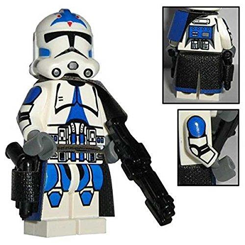 Custom Brick Design 501st Legion Clone Trooper Sergeant Figur - modifizierte Minifigur des bekannten Klemmbausteinherstellers und somit voll kompatibel zu Lego
