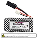 [New Version] Hosim RC Cars Replacement Battery, 500mAh New Version Li-ion Rechargeable Battery for Hosim 9130 9136 9137 9138 9145 Truggy High Speed Truck Accessory Supplies