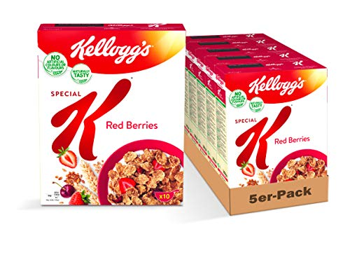 Kellogg's Special K Red Berries Cerealien | 5er Vorratspack | 5 x 300g