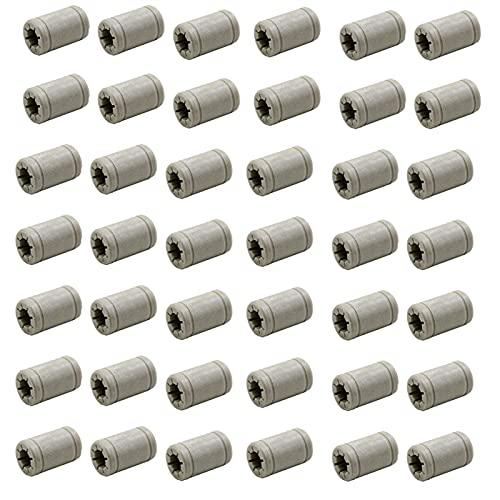 XIAOMINDIAN 50Pcs Plastica 8 Mm Cuscinetto A Sfere Lineare Per RJ4JP-01-08 Boccola Anet Cuscinetto Per ANET PRUSAI3 Stampante 3D Parti