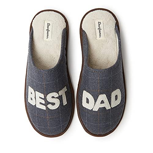 Dearfoams Men's Dad's Scuff Slipper, Pavement, Medium