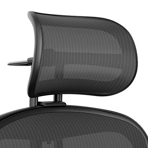 Atlas Activated Suspension Headrest for Herman Miller Remastered Aeron Chair - Ergonomically Optimized Accessory for Improved Posture (Remastered Graphite)