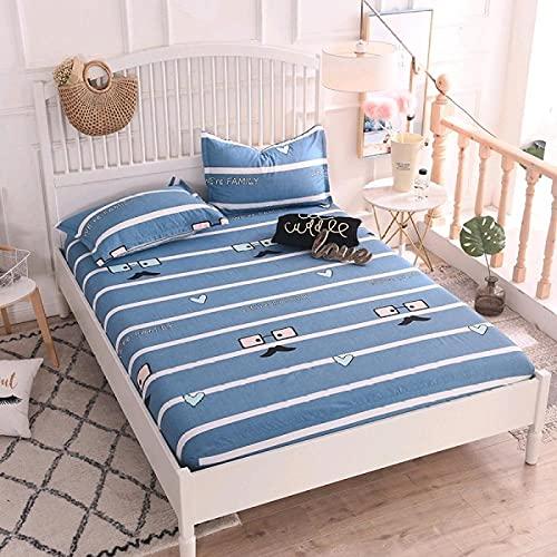 CYYyang Protector de colchón Transpirable.Rizo Bambú. Sábana de algodón Antideslizante-4_200x220cm