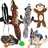 Jalousie 5 Pack Dog Squeaky Toys Three no Stuffing Toy and Two Plush with Stuffing for Small Medium...