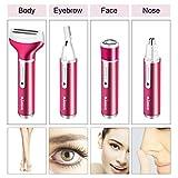 4 in 1 Rasierer Damen mit USB Ladung, Nass und Trocken Damenrasierer elektrisch, Lovebay Epilierer...