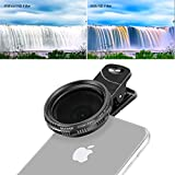 Neewer 37mm Clip-on ND 2-400 Cellphone Camera Lens Filter Kit: Adjustable Neutral Density