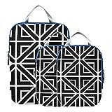 Montoj - Cubos de embalaje de figuras geométricas regulares, 3 piezas organizadores de equipaje...