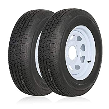 Ark Motoring ST205/75R15 Radial Trailer Tire With 15x5 inch Wheel 8-Ply Load Range D Set of 2