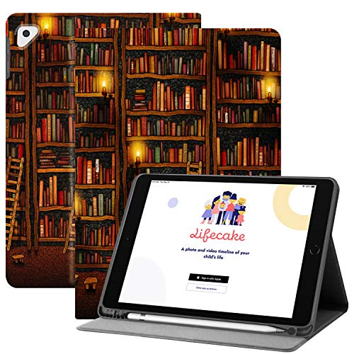 HUASIRU Pintura Caso Funda para iPad 10.2 Pulgadas/iPad Air 3 (10.5 Pulgadas) y iPad Pro 10.5 Pulgadas 2017 sólo - Construir en Portalápices -Reposo/Activación,