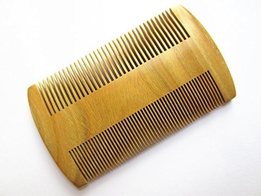 つかの間のスコアナースMyhsmooth GS-S2M-N2F Handmade Natural Green Sandalwood No Static Pocket Comb Perfect Beard Comb with Aromatic Scent for Long and Short Beards Perfect Mustache Comb(3.8
