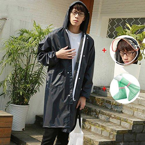 NYDZDM Regenmantel Erwachsenen Regenmantel Poncho Mode Dame Regenmantel Lange Jacke Lange Outdoor-Reise Regenmantel (Color : H, Size : M)