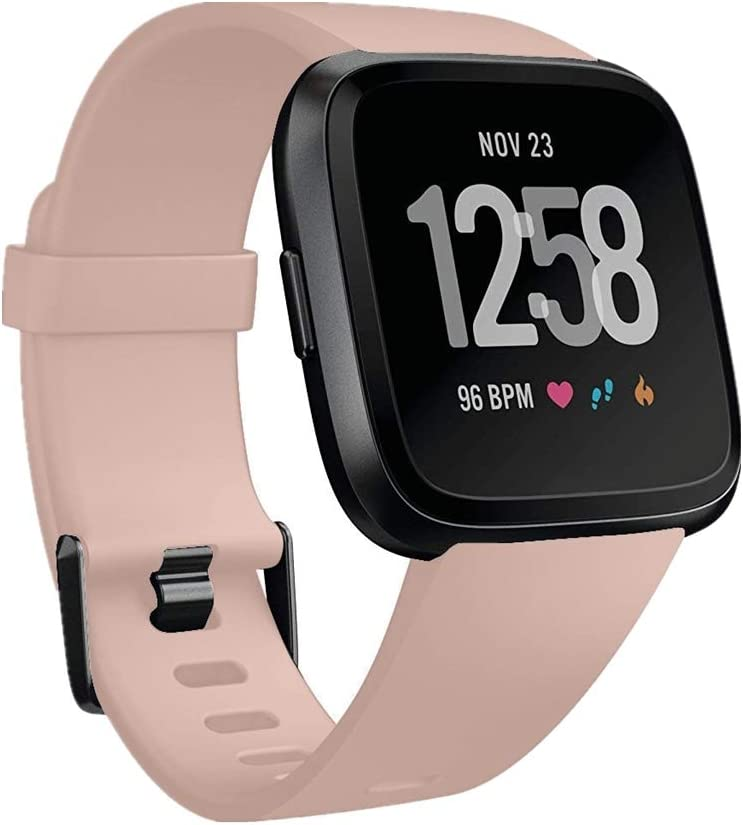 GinCoband Fitbit Versa Bands Replacement for Fitbit Versa/Versa Lite/Versa SE No Tracker 10 Color Large Small Women (Khaki, Small)