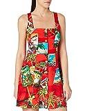 Desigual Vest_Mont-Royal Vestido Casual, Rojo, L para Mujer