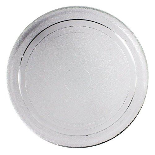 Spares2go Glatte Plattenspieler-Glasplatte für scharfe Mikrowellenherde (270mm) (27cm) Silber