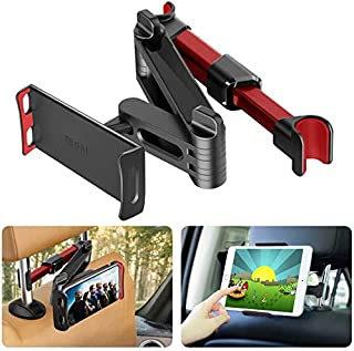 TEGAL Car Headrest Mount, Extendable Tablet Headrest Holder, Fits All 7 Inch to 11 Inch Tablets, Compatible with Smartphon...