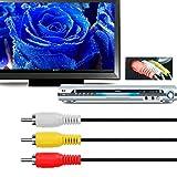 Chenduomi Câble mâle HDMI vers 3 RCA, Pour la vidéo, l'audio, auxiliaire, 1,5m/1.5m, avec câble convertisseur pour TV HD