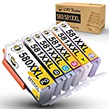 CMYBabee Cartuchos de Tinta compatibles para Canon PGI-580XXL CLI-581XXL Uso para Canon Pixma TS8150 TS8151 TS8152 TS8250 TS8251 TS8252 TS8350 TS8351 TS8352 TS9150 TS9155(Paquete de 6)