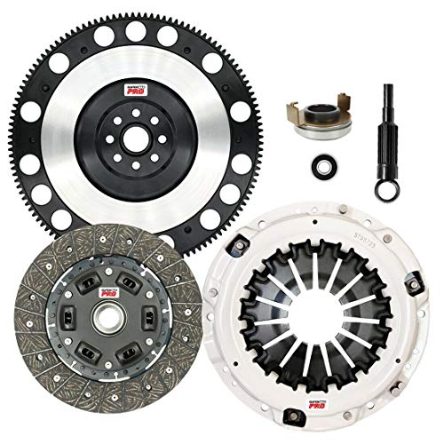 ClutchMaxPRO Performance Stage 1 Clutch Kit with Chromoly Flywheel Compatible with Saab 9-2X, Subaru Baja, Forester, Impreza WRX, Legacy GT, Outback, EJ255, FA20F (CP15026HDLSF-ST1)