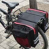 GGHKDD - Borsa portabagagli per bicicletta, impermeabile, doppia borsa per bicicletta, borsa portabagagli