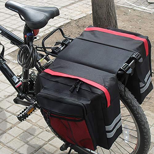 GGHKDD - Bolsa para portaequipajes de bicicleta, impermeable, doble bolsa para bicicleta, bolsa para portaequipajes de bicicleta, bolsa para portaequipajes