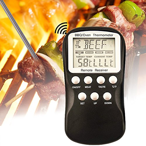 easyshop Draadloze Afstandsbediening BBQ Vlees Thermometer Barbecue Keuken Digitale Voedsel Thermometers