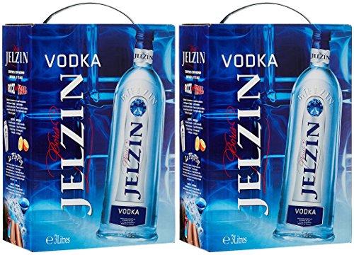 2x Boris Jelzin Vodka Bag in Box (2 x 3 Liter)
