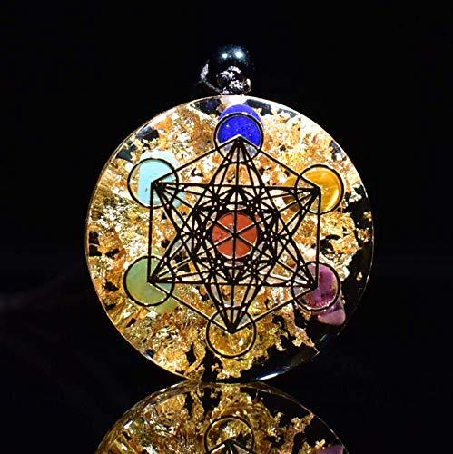 RMYSUM Collar De Orgonita con Piedras De Cristal Arcoíris con Colgante De Orgón