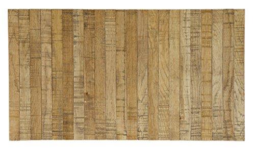 PEGANE Plateau Flexible en chêne Finition Antique - Dim : 44x24 cm