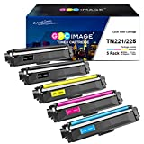 GPC Image Compatible Toner Cartridge Replacement for Brother TN221 TN225 to use with MFC-9130CW MFC-9340CDW MFC-9330CDW HL-3170CDW HL-3140CW HL-3180CDW Printers (2 Black, 1 Cyan, 1 Magenta, 1 Yellow)